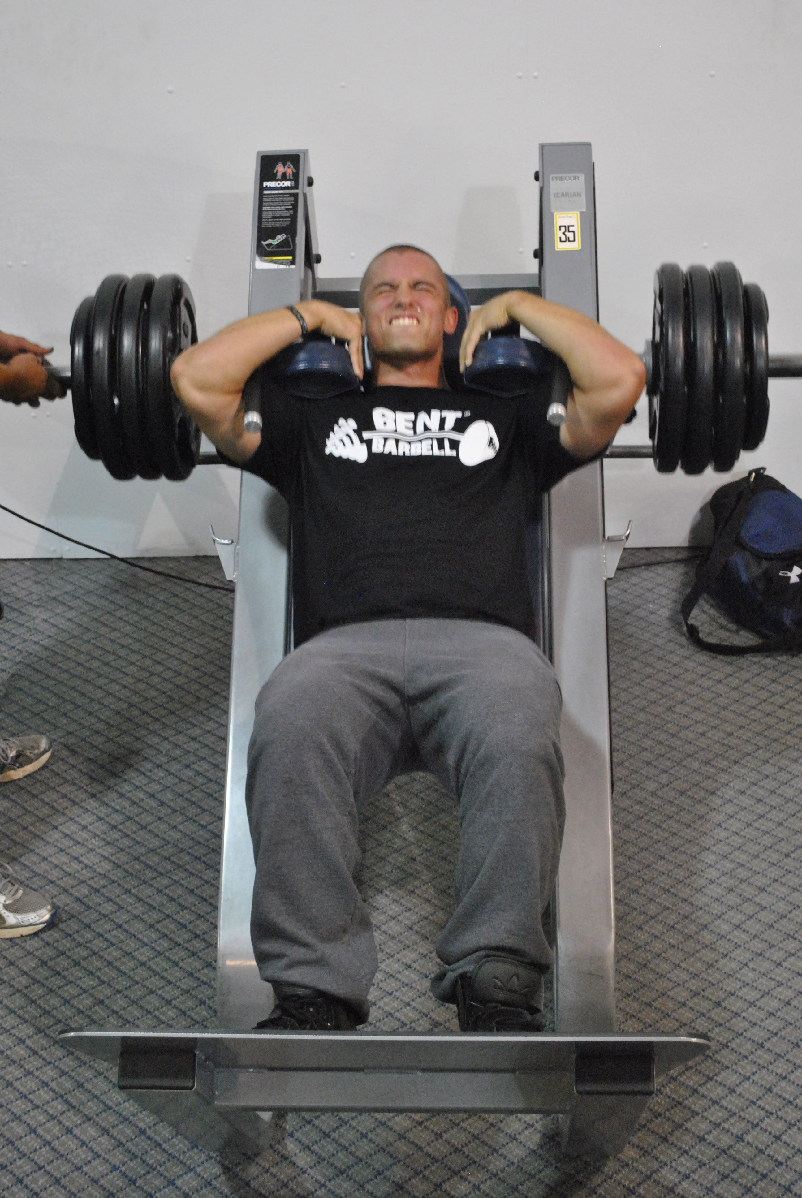 Bentbarbell nation s alex trains legs at bentbarbell s home gym
